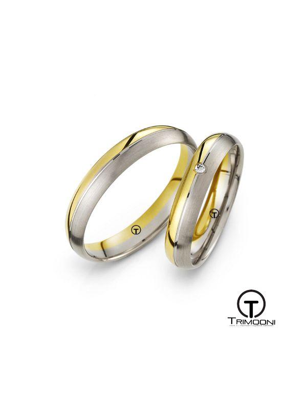 Dimarco_SDO-  Set (pareja) de Argollas Matrimonio Dos Oros Trimooni 3,8mm >Más Info...