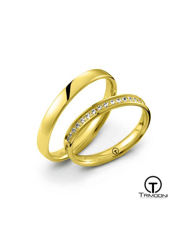 Dolce_OAS-  Set (pareja) de Argollas Matrimonio Oro Amarillo Trimooni