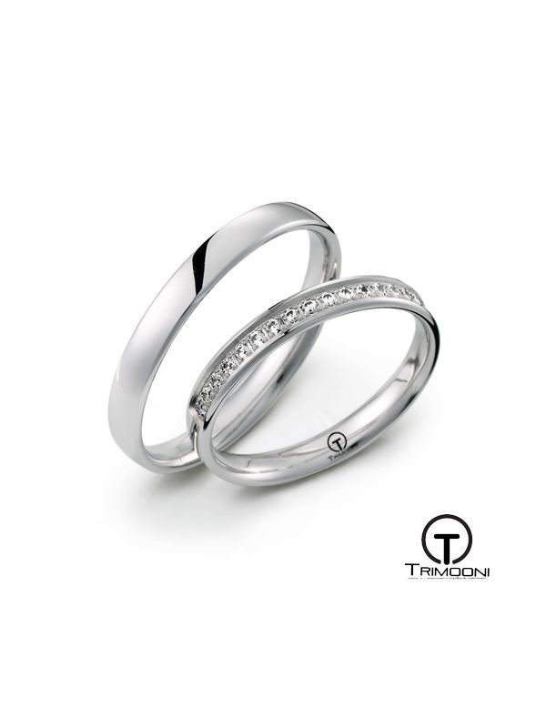 Dolce_PTS-  Set (pareja) de Argollas Matrimonio Platino Trimooni