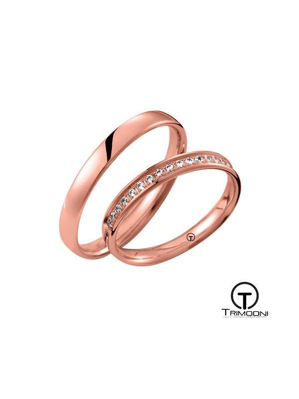 Dolce_ORS-  Set (pareja) de Argollas Matrimonio Oro Rosado Trimooni