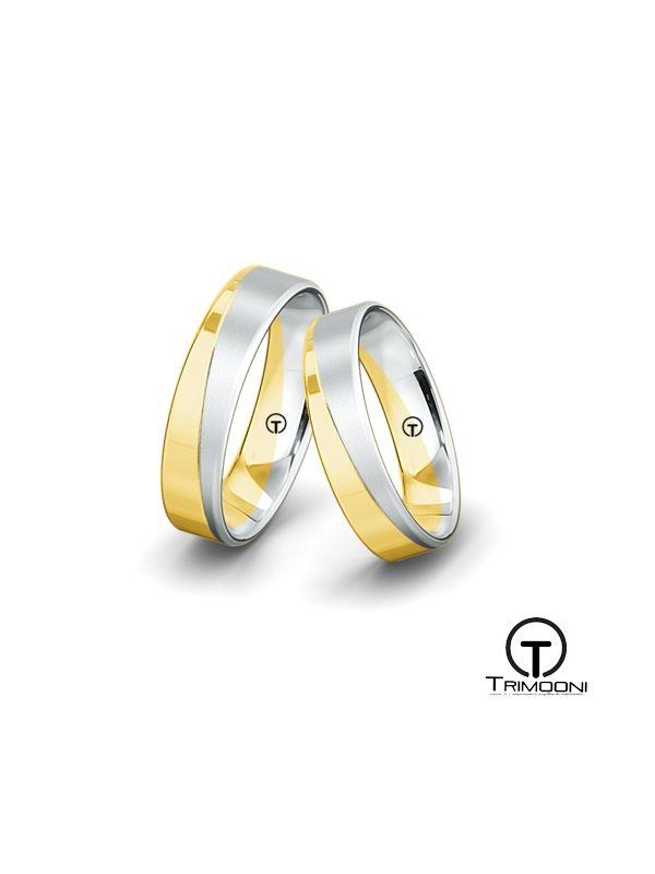 Dominicci_SDO-  Set (pareja) de Argollas Matrimonio Dos Oros Trimooni 4mm > Más Info...