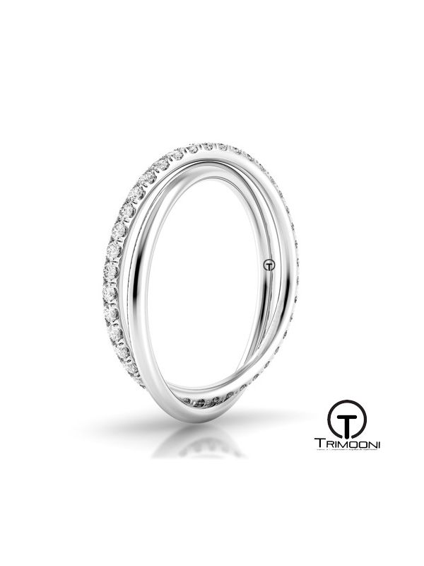 Due_OBM-  Argolla Matrimonio Oro Blanco Trimooni