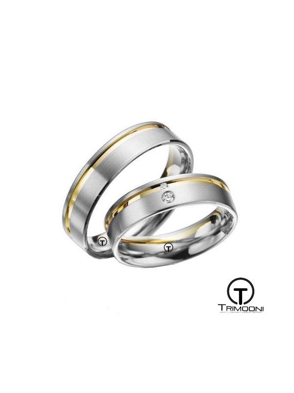 Dueamanti_SDO-  Set (pareja) de Argollas Matrimonio Dos Oros Trimooni 5mm >Más Info...