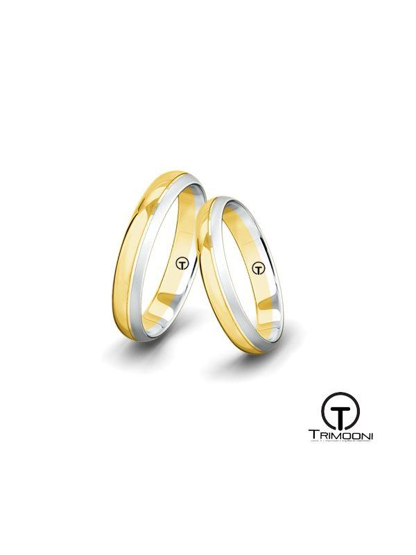 Dueterzi_SDO-  Set (pareja) de Argollas Matrimonio Dos Oros Trimooni 3mm > Más Info...