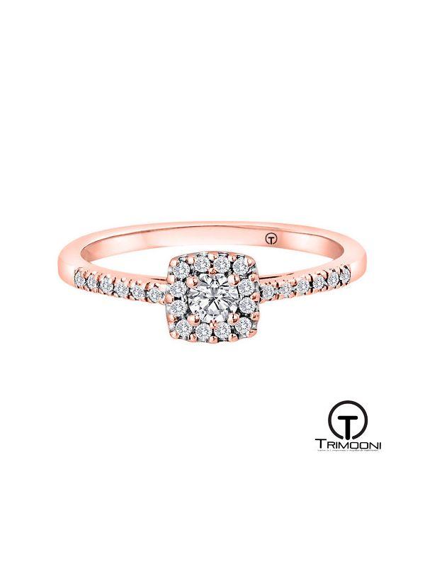 Efeh_ACOR || Anillo de Compromiso oro rosado Trimooni