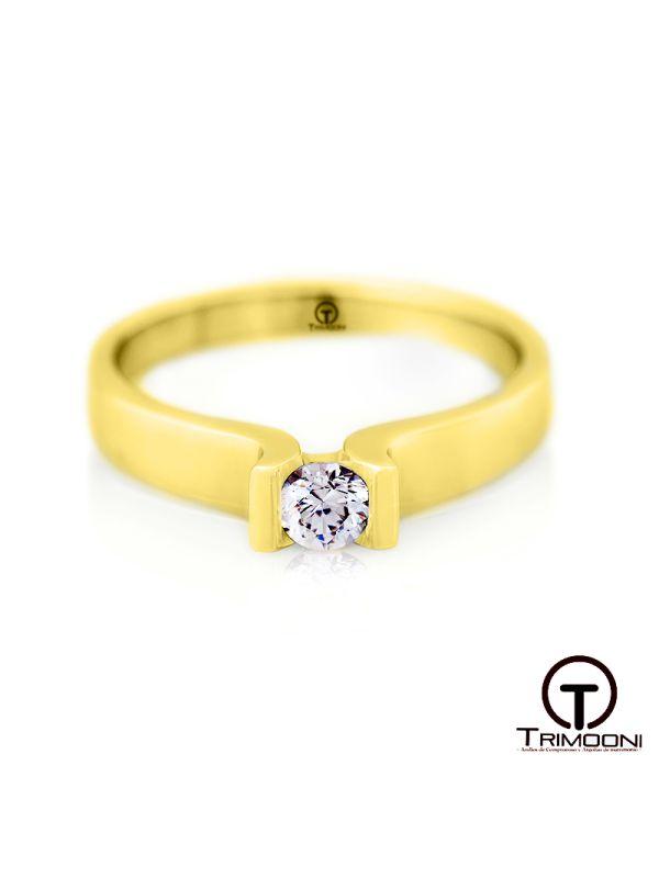 Eiffel_ACOA || Anillo de Compromiso oro Amarillo Trimooni