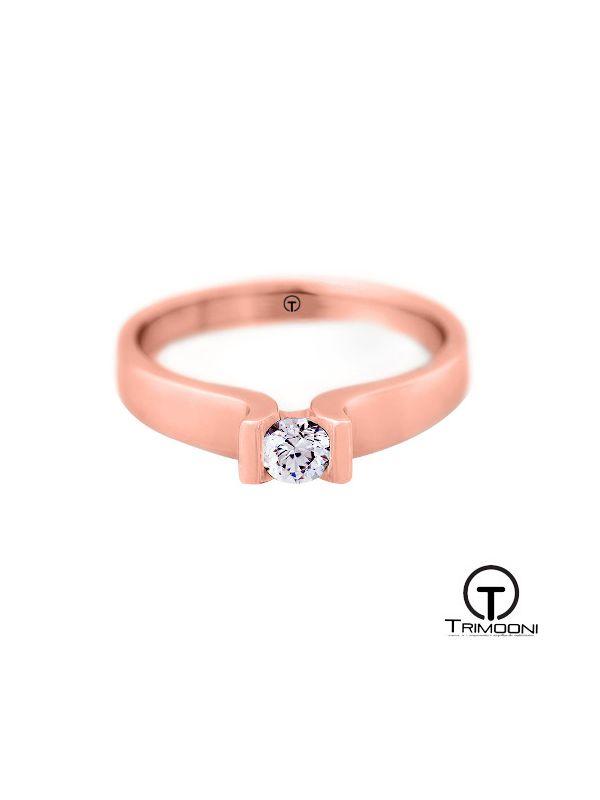 Eiffel_ACOR || Anillo de Compromiso oro rosado Trimooni