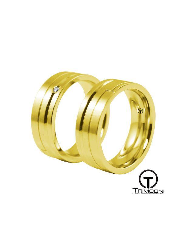 Esparta_OAS-  Set (pareja) de Argollas Matrimonio Oro Amarillo Trimooni