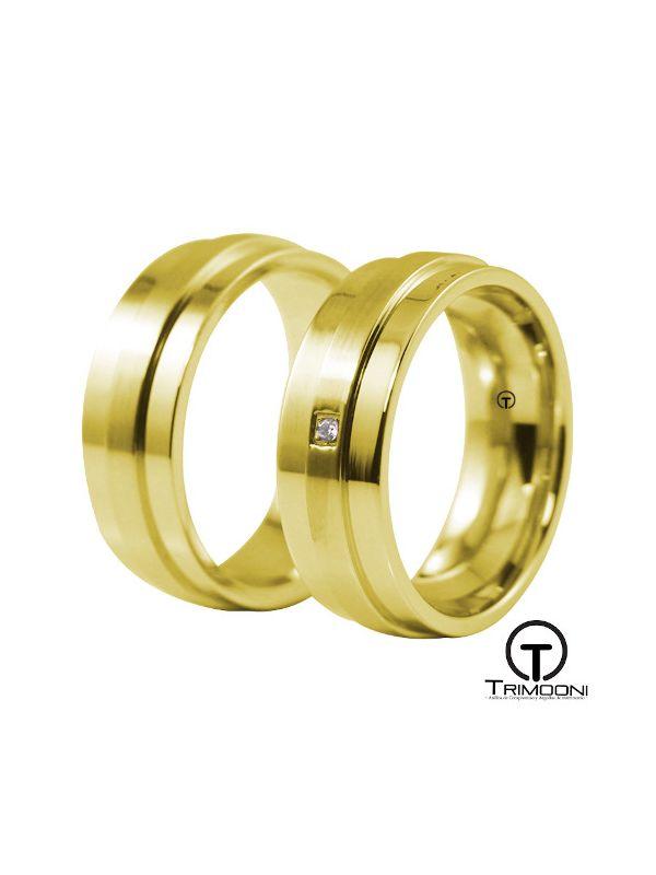 Fiore_OAS-  Set (pareja) de Argollas Matrimonio Oro Amarillo Trimooni