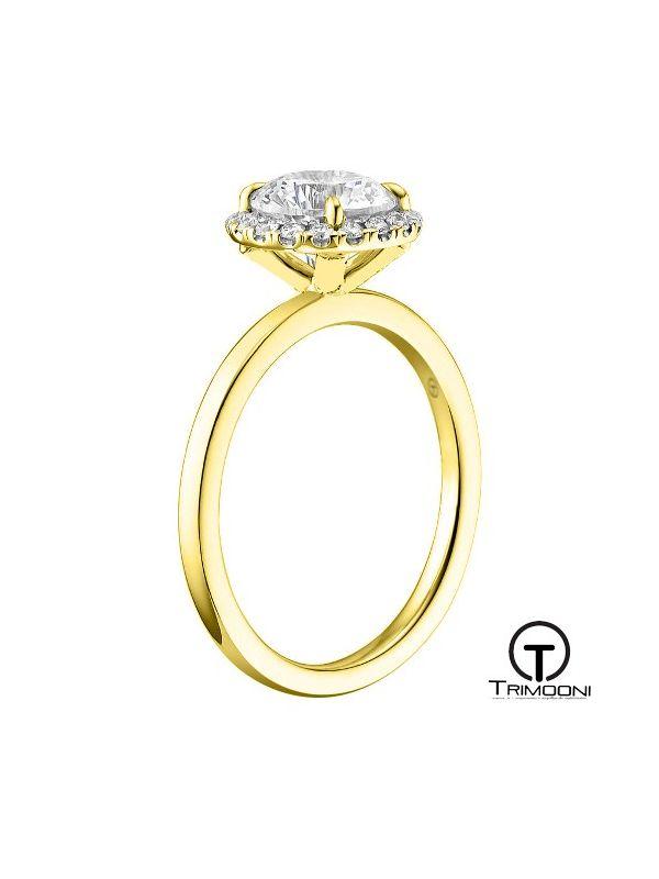 Flora_ACOA || Anillo de Compromiso oro Amarillo Trimooni
