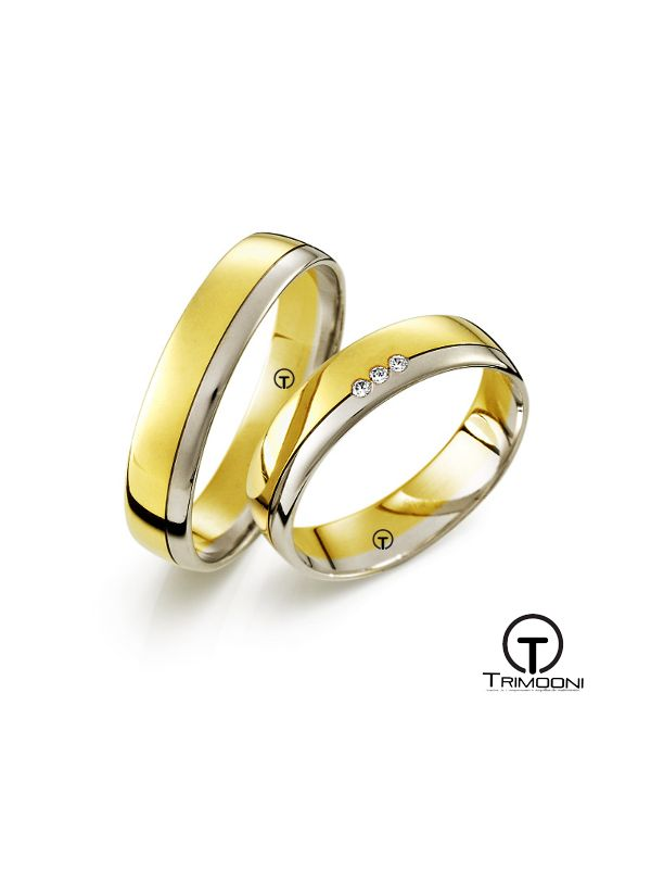 Fonte_SDO-  Set (pareja) de Argollas Matrimonio Dos Oros Trimooni 4mm >Más Info...