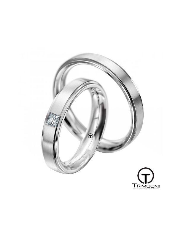 Gondola_OBS-  Set (pareja) de Argollas Matrimonio Oro Blanco Trimooni