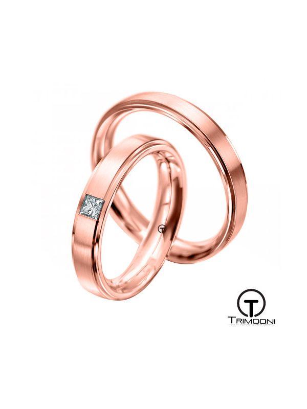 Gondola_ORS-  Set (pareja) de Argollas Matrimonio Oro Rosado Trimooni
