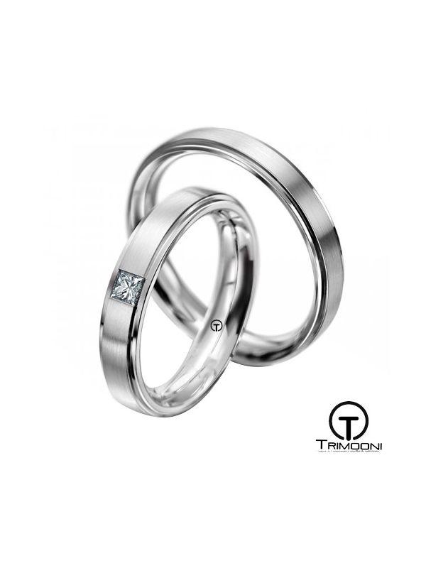 Gondola_PTS-  Set (pareja) de Argollas Matrimonio Platino Trimooni