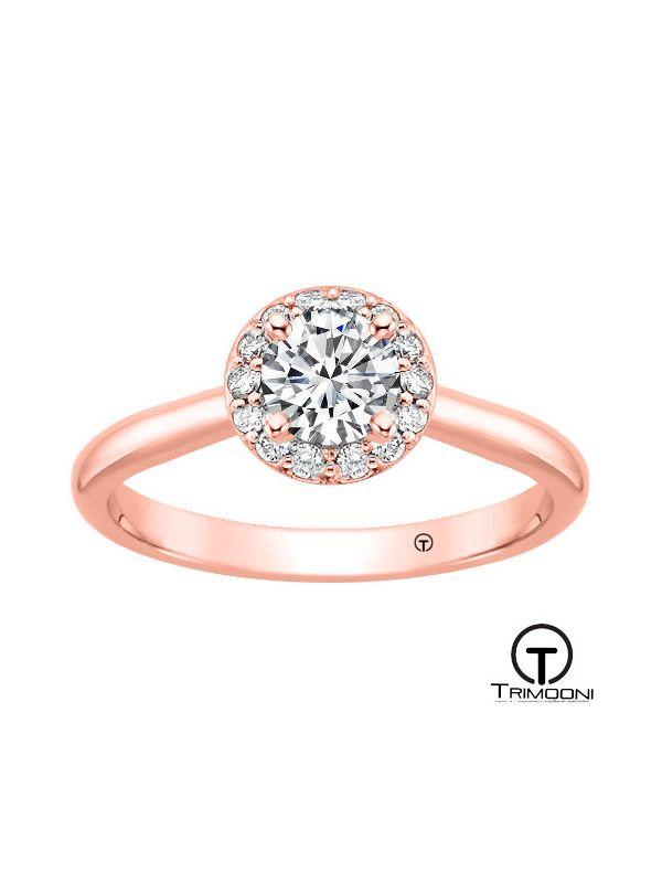 Heli_ACOR || Anillo de Compromiso oro rosado Trimooni