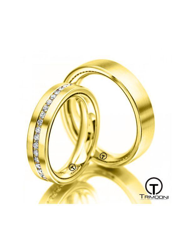 Lacio_OAS-  Set (pareja) de Argollas Matrimonio Oro Amarillo Trimooni