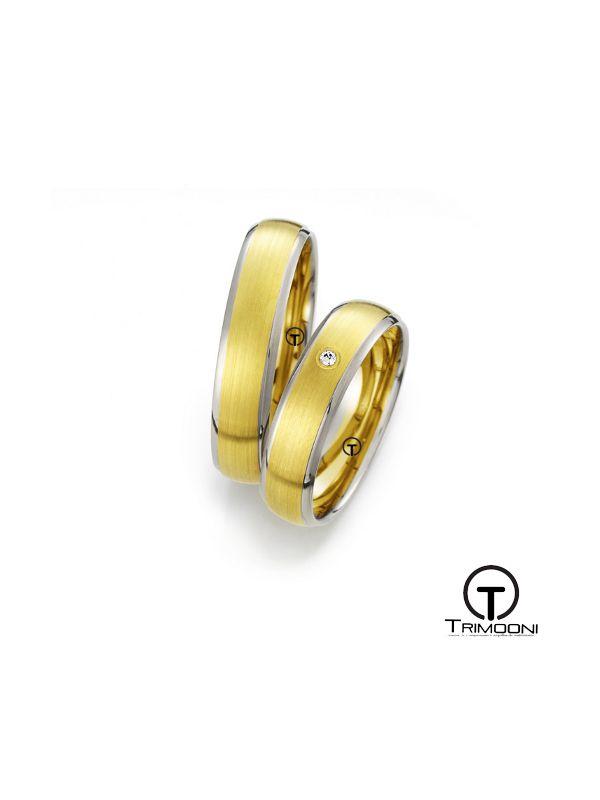 Lavia_SDO-  Set (pareja) de Argollas Matrimonio Dos Oros Trimooni 4mm >Más Info...