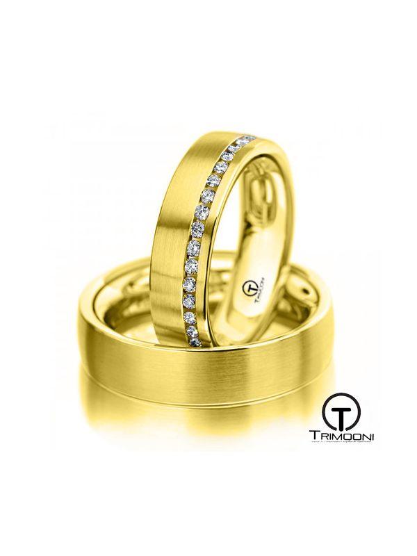 Liguria_OAS-  Set (pareja) de Argollas Matrimonio Oro Amarillo Trimooni