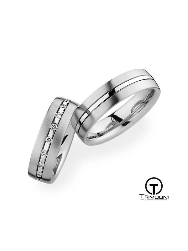 Lineare_PTS-  Set (pareja) de Argollas Matrimonio Platino Trimooni