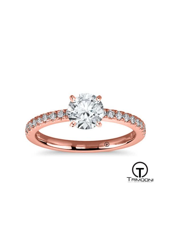 Lorde_ACOR || Anillo de Compromiso oro rosado Trimooni
