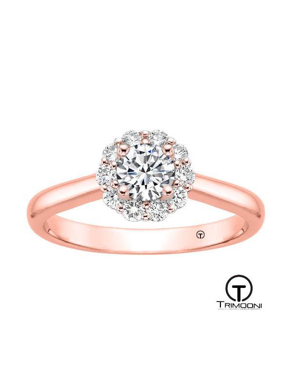 Loto_ACOR || Anillo de Compromiso oro rosado Trimooni