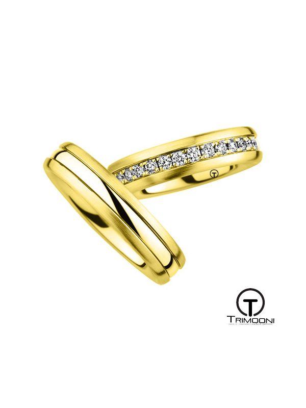 Lumino_OAS-  Set (pareja) de Argollas Matrimonio Oro Amarillo Trimooni