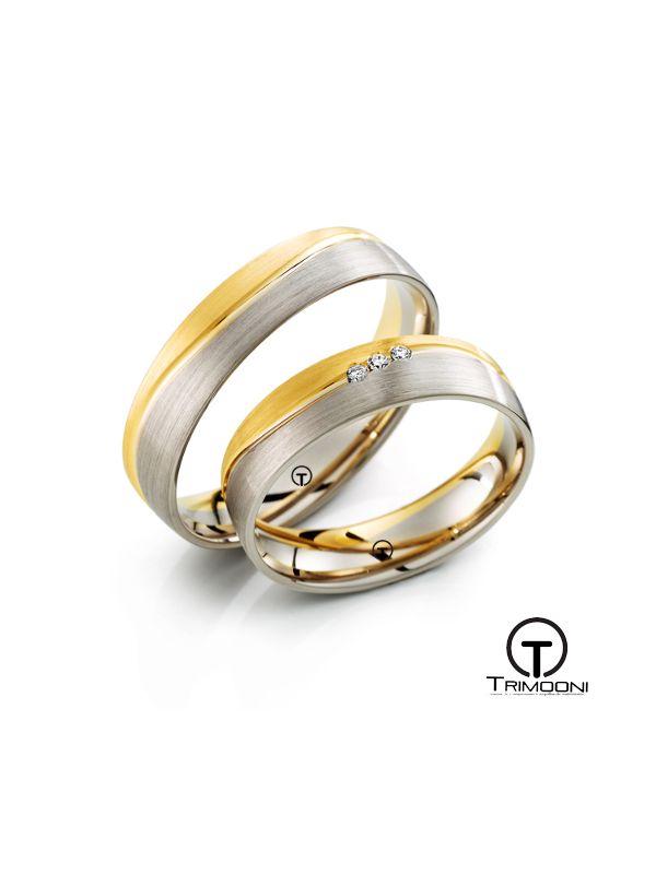 Maregi_SDO-  Set (pareja) de Argollas Matrimonio Dos Oros Trimooni 4mm >Más Info...