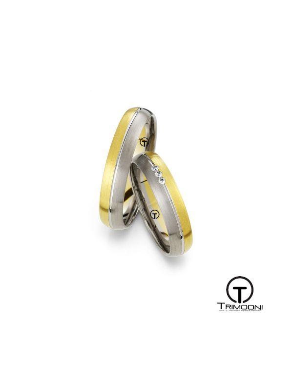 Mezzo_SDO-  Set (pareja) de Argollas Matrimonio Dos Oros Trimooni 3,8mm > Más Info...