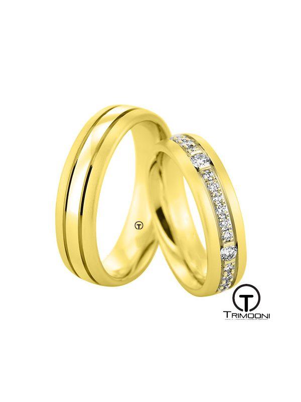 Minata_OAS-  Set (pareja) de Argollas Matrimonio Oro Amarillo Trimooni