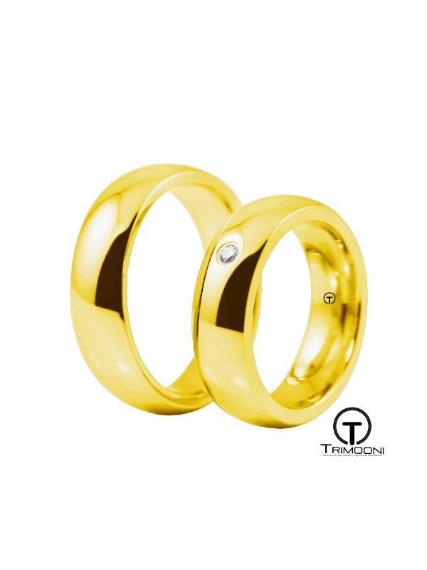 Moon_OAS-  Set (pareja) de Argollas Matrimonio Oro Amarillo Trimooni