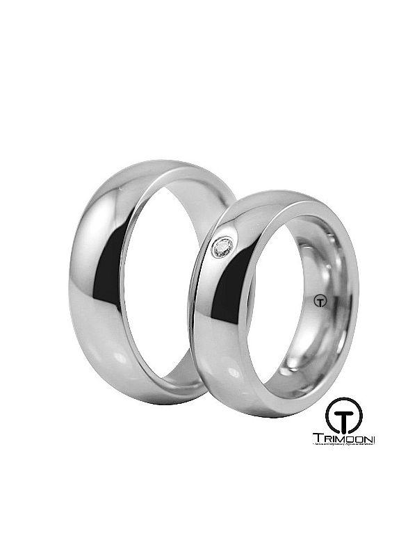 Moon_OBS-  Set (pareja) de Argollas Matrimonio Oro Blanco Trimooni