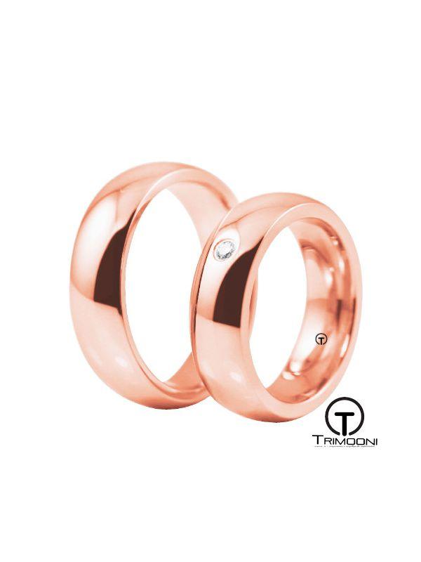 Moon_ORS-  Set (pareja) de Argollas Matrimonio Oro Rosado Trimooni