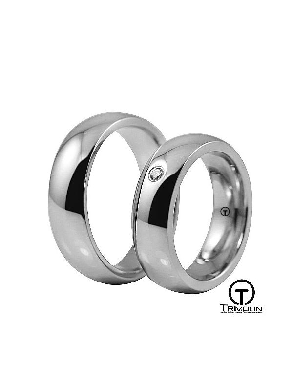 Moon_PTS-  Set (pareja) de Argollas Matrimonio Platino Trimooni
