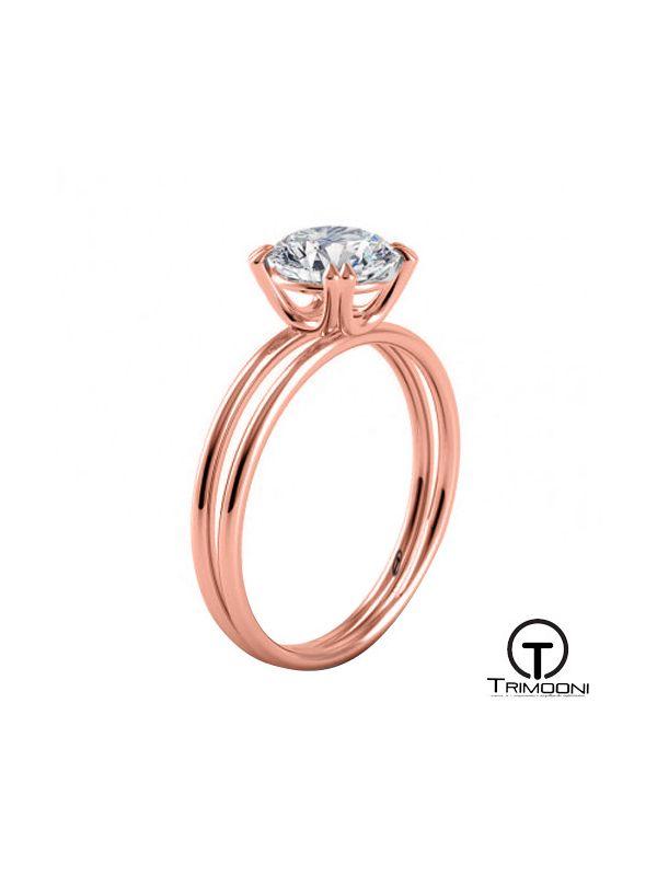 Olimpia_ACOR || Anillo de Compromiso oro rosado Trimooni