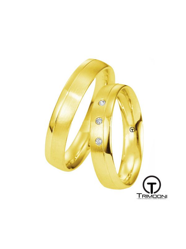 Oporto_OAS-  Set (pareja) de Argollas Matrimonio Oro Amarillo Trimooni