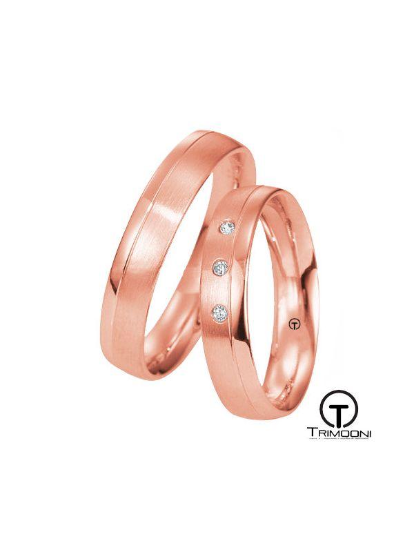 Oporto_ORS-  Set (pareja) de Argollas Matrimonio Oro Rosado Trimooni