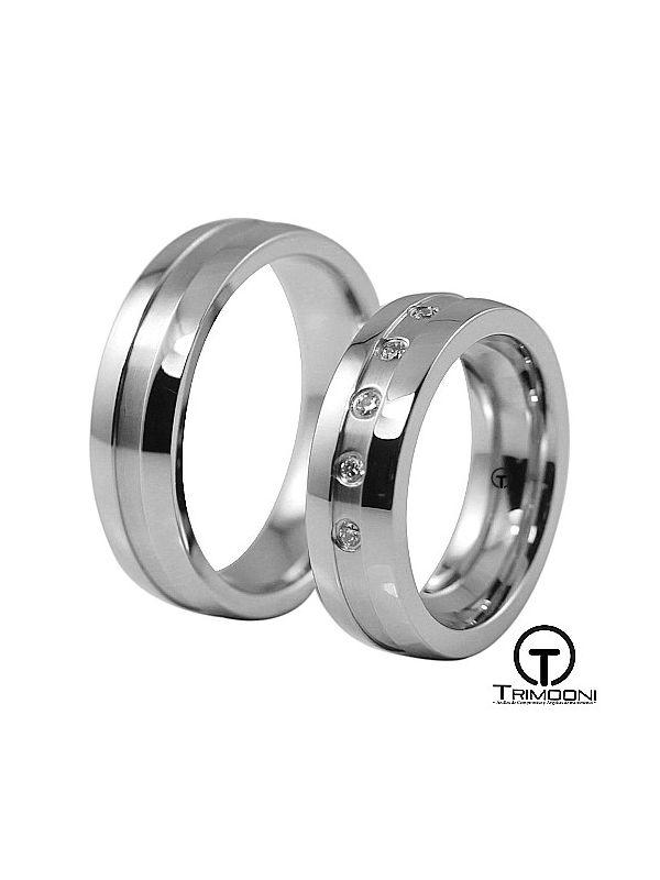 Orbit_PTS-  Set (pareja) de Argollas Matrimonio Platino Trimooni