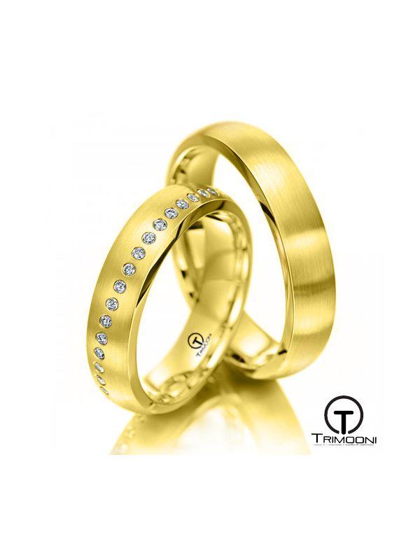 Piamonte_OAS-  Set (pareja) de Argollas Matrimonio Oro Amarillo Trimooni