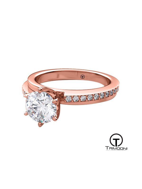 Ponte_ACOR || Anillo de Compromiso oro rosado Trimooni