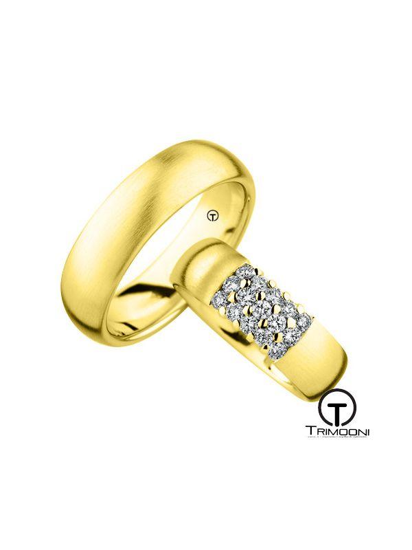 Quindici_OAS-  Set (pareja) de Argollas Matrimonio Oro Amarillo Trimooni