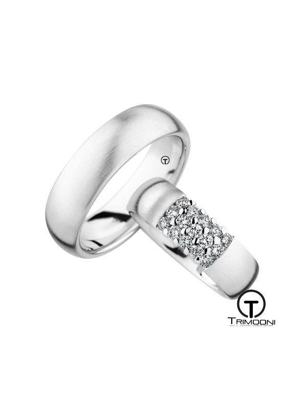 Quindici_OBS-  Set (pareja) de Argollas Matrimonio Oro Blanco Trimooni