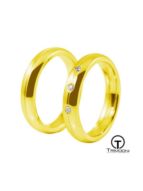 Rio_OAS-  Set (pareja) de Argollas Matrimonio Oro Amarillo Trimooni