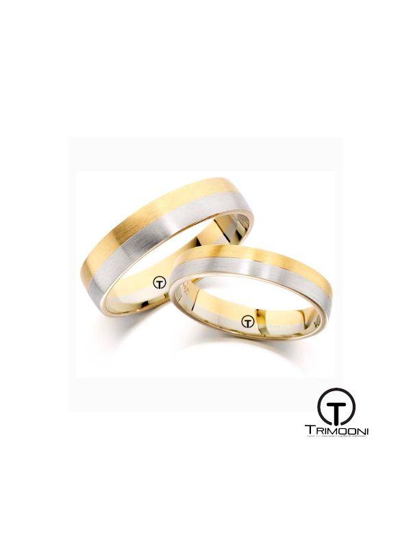 Ruota_SDO-  Set (pareja) de Argollas Matrimonio Dos Oros Trimooni 4 y 4,6mm >Más Info...