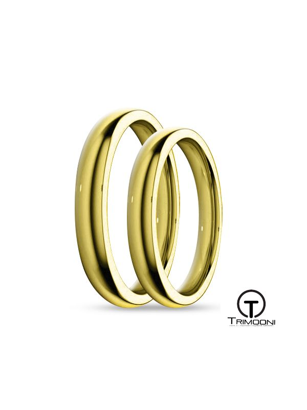 SAMOA003-  Set (pareja) de Argollas Matrimonio Oro Amarillo Trimooni 3mm +Info...
