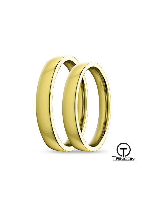 SAMOA009-  Set (pareja) de Argollas Matrimonio Oro Amarillo Trimooni 3mm +Info...