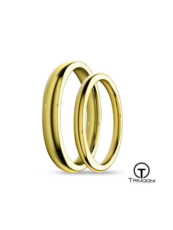 SAMOA023-  Set (pareja) de Argollas Matrimonio Oro Amarillo Trimooni 2 y 3mm +Info...