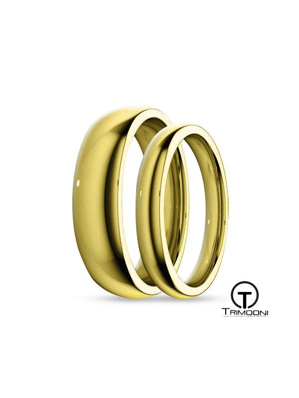 SAMOA034-  Set (pareja) de Argollas Matrimonio Oro Amarillo Trimooni 3 y 4mm +Info...
