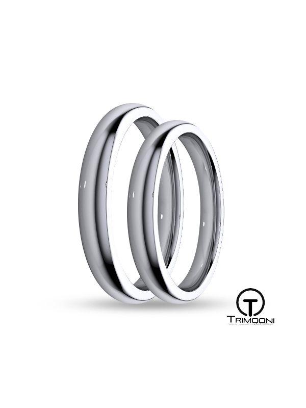 SAMPT003-  Set (pareja) de Argollas Matrimonio Platino Trimooni 3mm