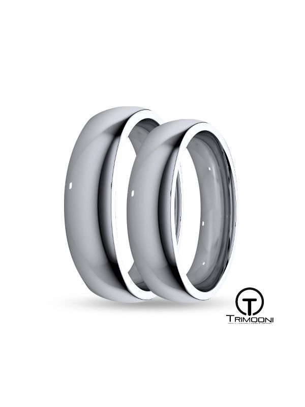 SAMPT004-  Set (pareja) de Argollas Matrimonio Platino Trimooni 4mm +Info...