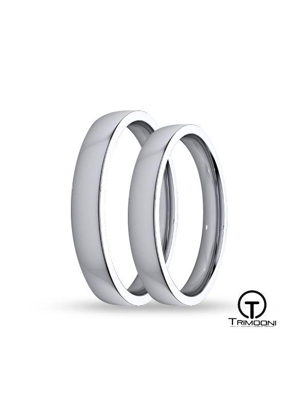 SAMPT009-  Set (pareja) de Argollas Matrimonio Platino Trimooni 3mm +Info...
